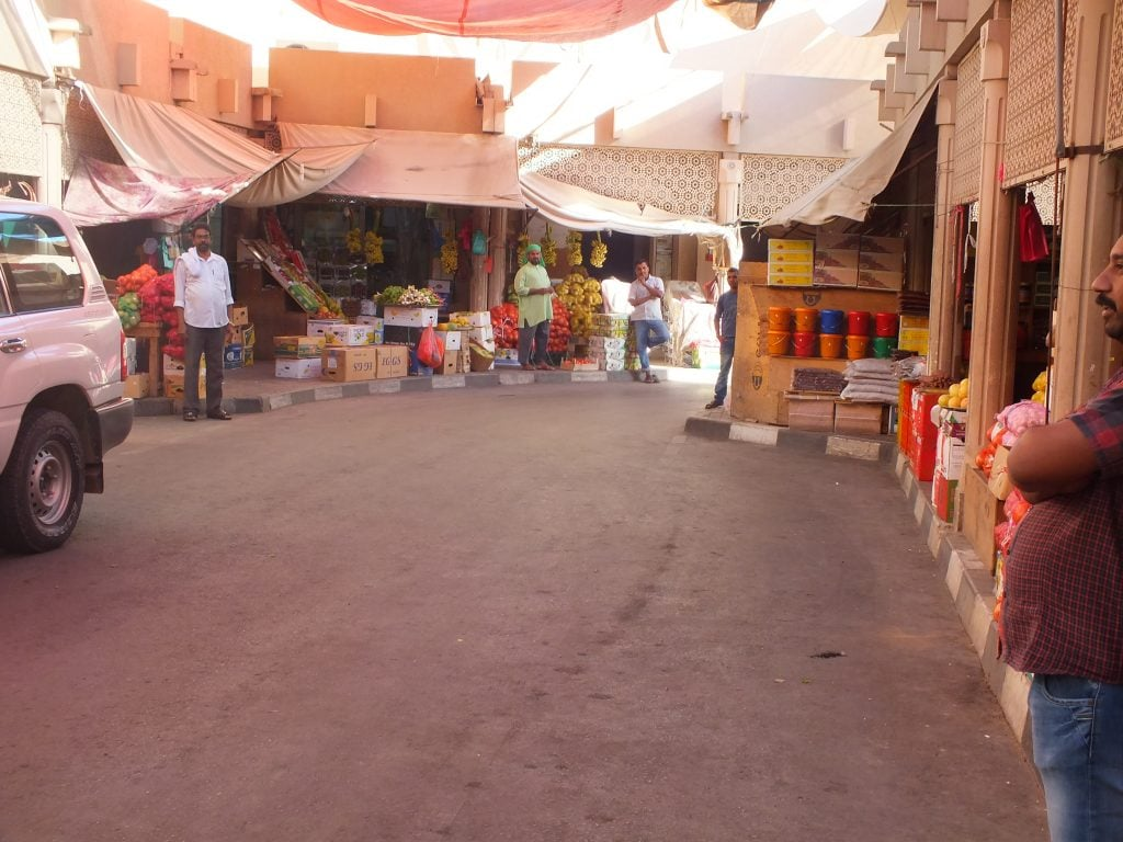 A wide sgoot of the Buraimi Souq from outside