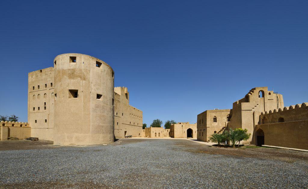 Ad Dakhiliyah Jabeen Castle exterior courtyard Ad Dakhiliyah