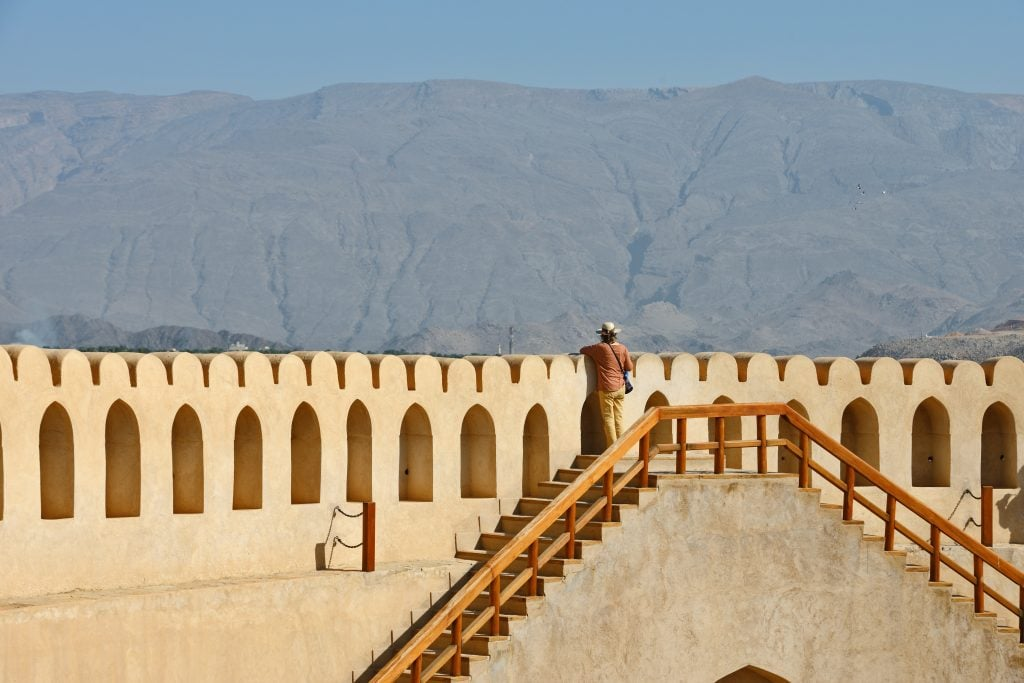 Ad Dakhiliyah Staircase to the roof Nizwa Fort 1