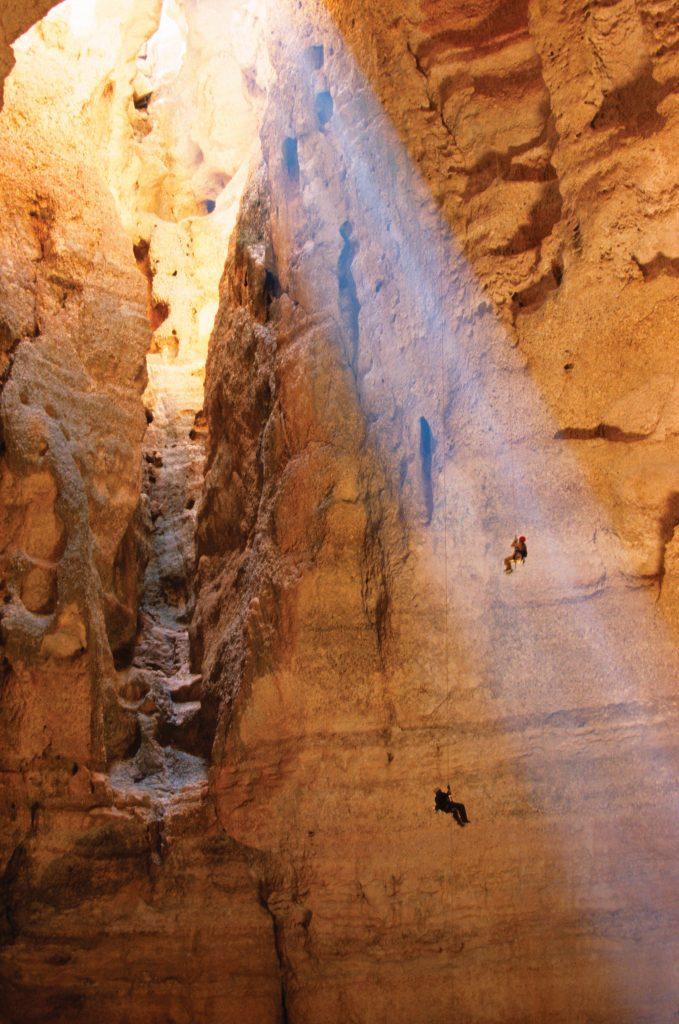 Caving Climber in Majlis al Jinn Quriyat Muscat Oman