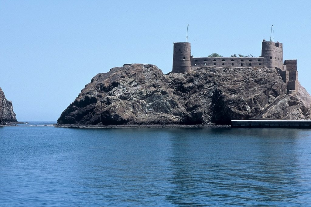 Forts and Castles Fort Jalali by the sea in Muscat Oman