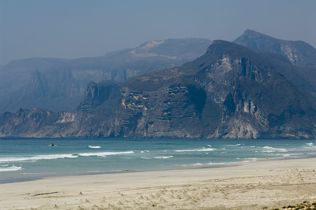 Mountains Al Mughsayl Beach Salalah Oman 1