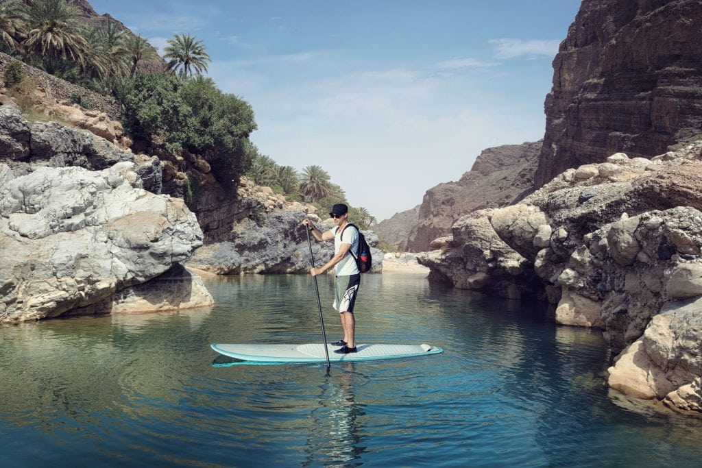 Mountains Stand up paddleboarding at Wadi Arabiyeen Oman 2