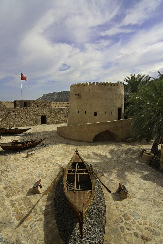 Musandam Khasab Fort in Musandam in Oman