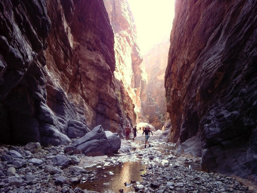 People Snake Gorge canyoneering oman 3G