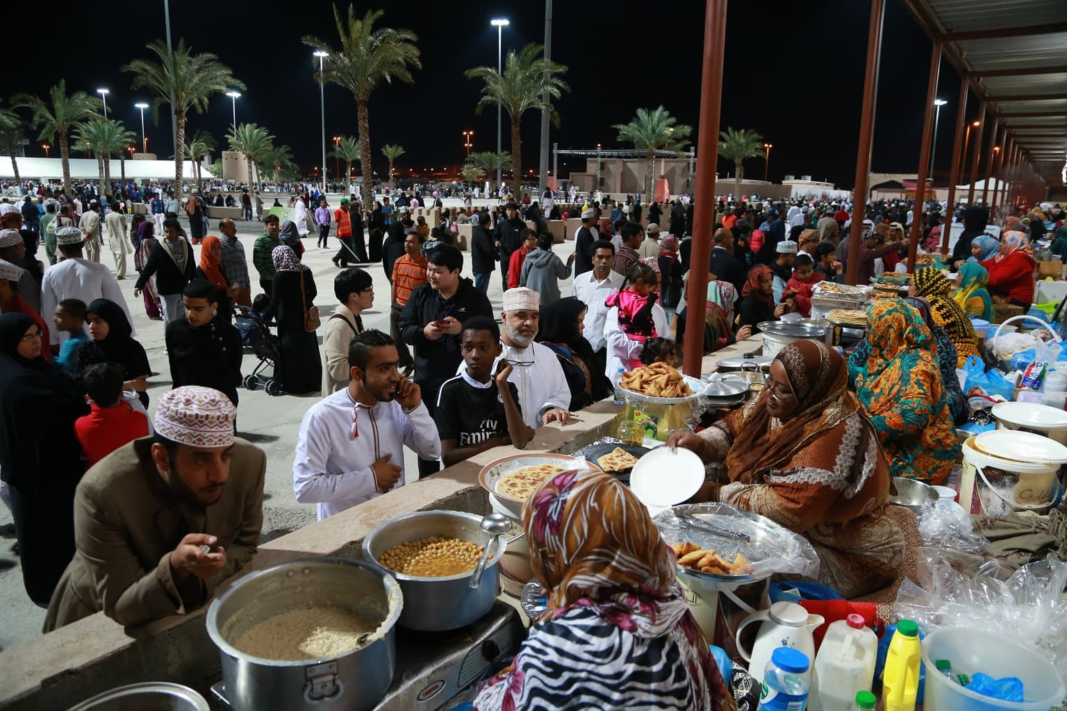 Omani traditional food market