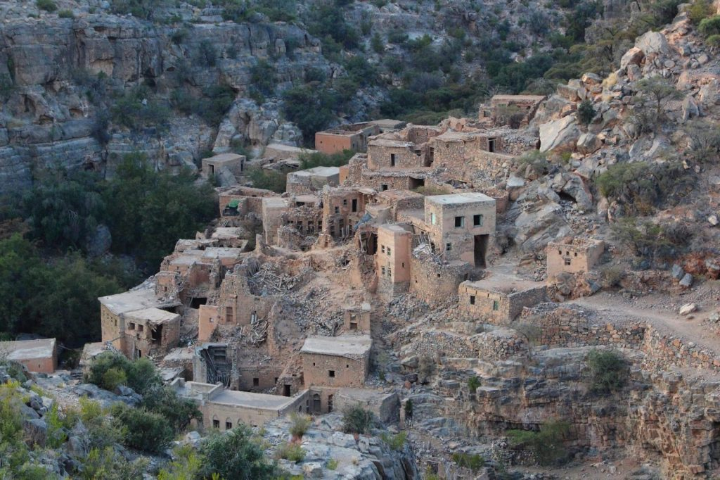 a visit to the abandon stone village in Wadi Bani Habib